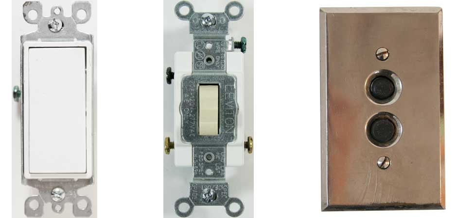 SWITCHES & DIMMERS, Decora Switch, Toggle Switch, 3 way switch,  Classic switch