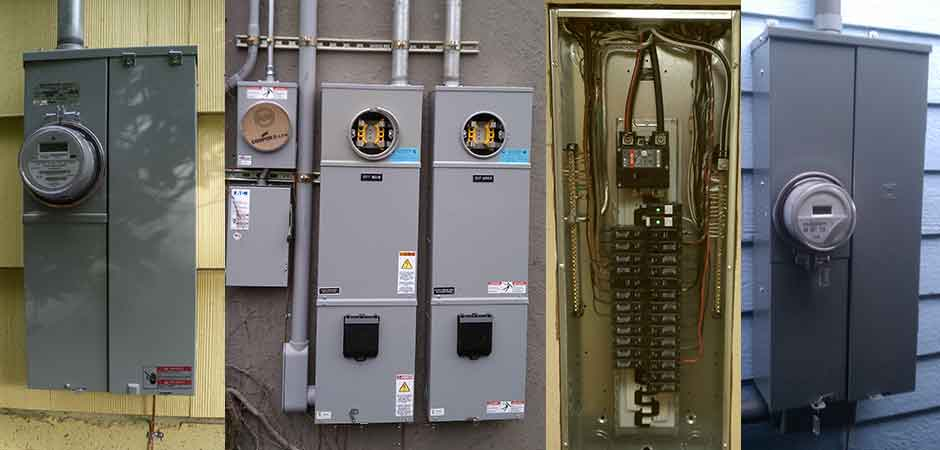 PANELS & SERVICES, Meter base replacement, Service change, Panel change, New electrical service